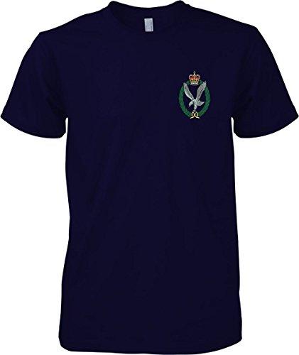 British Army Army Air Corps - Colour Badge - Official MOD T-Shirt - Navy Blue - Medium (Army Blauen Air Corp T-shirt)