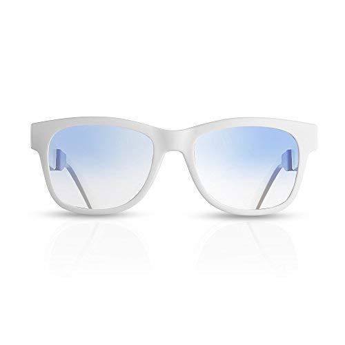 VocalSkull Knochenleitung Bluetooth Sonnenbrille Drahtloser Wireless Headset polarisierte Sports Stereomusik Kopfhörer mit Mikrofon für IOS/Android(Anti-Blaues-ray Linse)