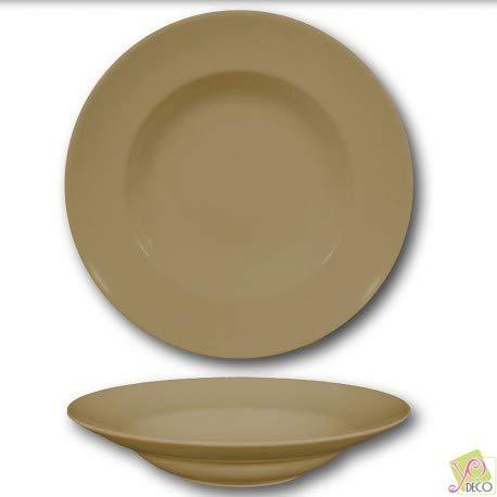 Assiette à pâtes Marron - D 26 cm - Napoli