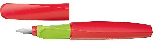 Pelikan P457 Apple Füller Twist Feder Universell für Rechts-/Linkshänder, M, rot/grün