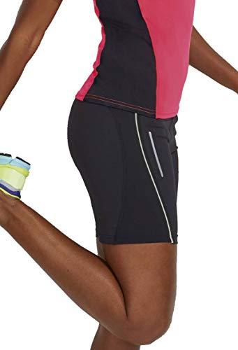RoughTex Laufhose Damen Running Shorts Caprihose 3/4 Hosen Chicago Shorts Schwarz S