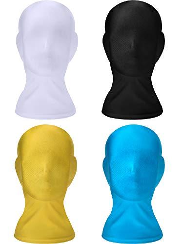 2 Stück Kostüm Stretch - SATINIOR 4 Stücke Spandex Masken Unisex Vollständige Abdeckung Kapuze Halloween Zubehör (Faebe 2)