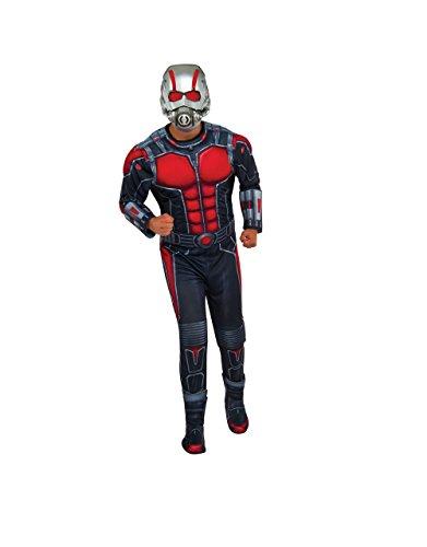 ant-man Kostüm, Herren Deluxe Marvel Outfit, Standard, Brust 111,8cm Taille 76,2–86,4cm Hosenlänge (Für Deluxe Man Kostüme Ant Kinder)