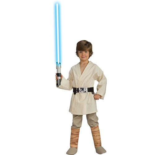 Star Wars Deluxe Luke Skywalker Kostüm Kinderkostüm Science Fiction Gr. S - L, Größe:M