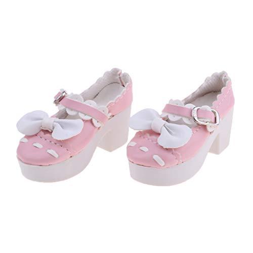 Baoblaze 1 Paar Hochhackige Puppenschuhe High Heels Pumps Hohe Absätze Für 1/3 BJD Mädchen Puppe - # 12 - Rosa