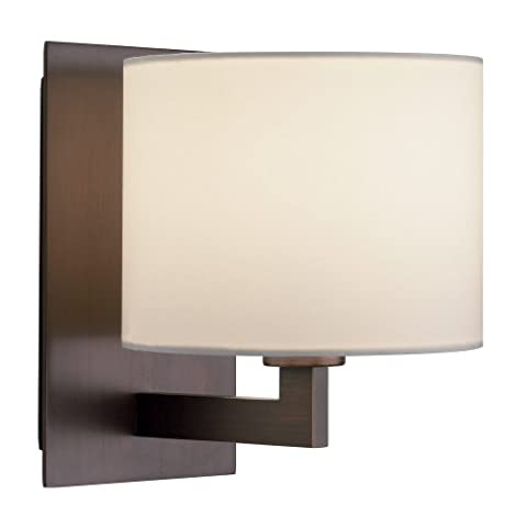 Astro 0859 E14 Olan Wall Light, Bronze (Shade and Bulb Not Included)
