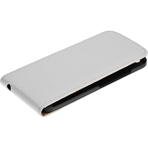 PhoneNatic Kunst-Lederhülle für Apple iPhone 6s / 6 Flip-Case weiß Tasche iPhone 6s / 6 Hülle + 2 Schutzfolien Weiß