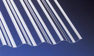 Acryl Wellplatten Profilplatten Sinus 76/18 klar ohne Struktur 3500 x 1045 x 3,0 mm