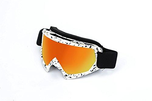 Spohife occhialini di sicurezza antipolvere, antigraffio, antiuv, antivento, unisex, per ciclismo, moto, arrampicata, equitazione, sport all'aperto, white