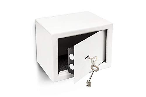 Esta caja de seguridad servirá para guardar sus objetos de valor de manera segura. La caja fuerte tiene una construcción de acero sólido con dos cerrojos. Está diseñada para montaje a pared o suelo. Se incluye el material de montaje necesario.Segu...