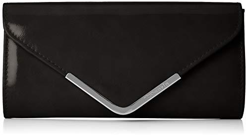 Schwarz Glänzend, Kompakt (Tamaris Damen Brianna Clutch Bag Schwarz (Black) 5x12x26 cm)