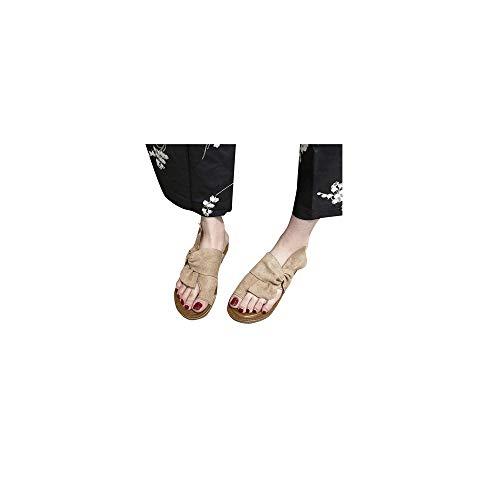Celucke Scarpe da Donna Sandali Infra-Alluce Bassi in Pelle Infradito Sandal comode Viaggio per Spiaggia e Estate