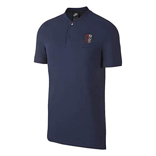 Nike 2019-2020 psg authentic grand slam polo football soccer t-shirt maglia (navy)