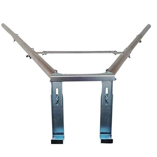 Teleskop Wandabstandshalter für Leitern, Wandabstand 52,5cm - 112cm einstellbar. Passend für alle Anlegeleitern. Ohne Werkzeug montierbar.