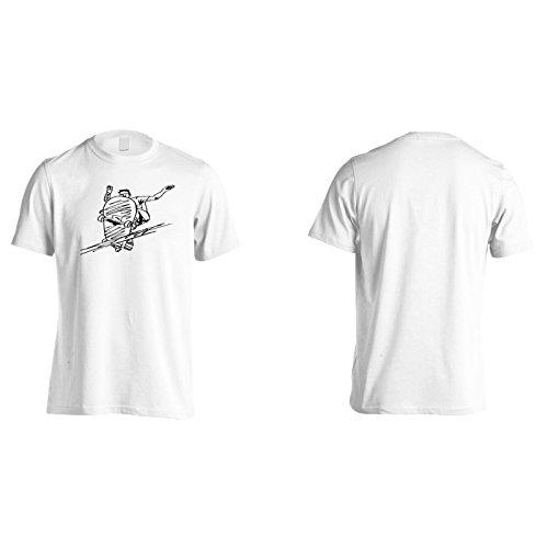 Skateboard skate divertente vita hip hop Uomo T-shirt d974m White