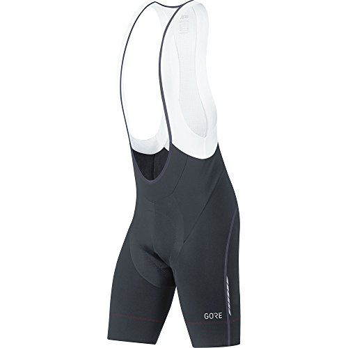 GORE Wear Atmungsaktive, kurze Herren Trägerhose, Mit Sitzpolster, C7 Partial Thermo Bib Shorts+, XL, Schwarz, 100363 -