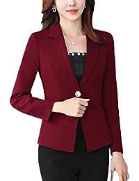 fe88604a36de Blazer Damen Frühling Herbst Normallacks Anzug Elegant Bekleidung Revers Langarm  Vintage Anzugjacke Fashion Gemütlich Slim Fit Mantel…