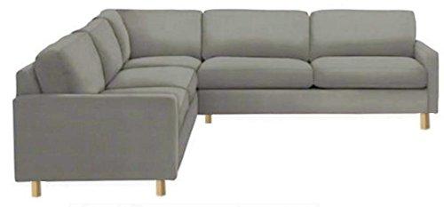 Il resistente cotone Karlstad di divano ad angolo (2+ 3/3+ 2) di ricambio, realizzata su misura per Ikea Karlstad Sezionale fodera di ricambio