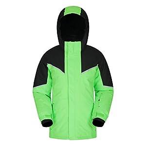 Mountain Warehouse Colardo Kinder-Skijacke – robuster, Warmer Wintermantel für Jungen und Mädchen, mit Taschen und Schneefang – für Snowboarding