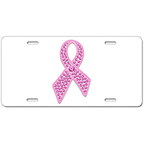 CafePress nastro rosa Jewels Targa in alluminio, Standard, colore: multicolore - Breast Cancer Poster