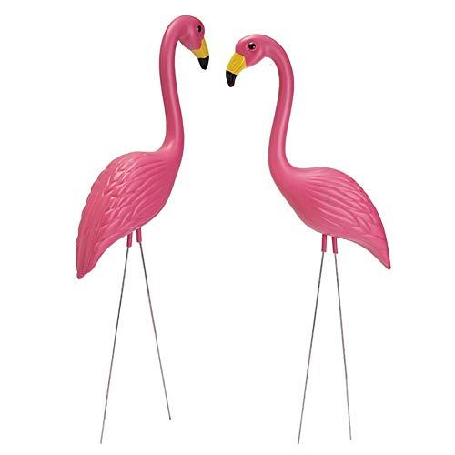Garten Dekoration Figuren Groß Modern Landhaus Dekoration für Garten Gartenzwerge 2 Stück Kunststoff Simulation Flamingo Head Up Modelle   Garten > Dekoration > Dekofiguren   Hearthrousy