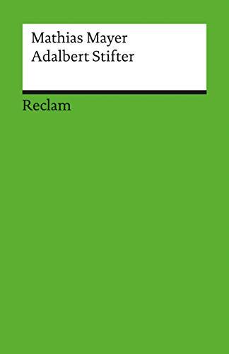 Adalbert Stifter: Erzählen als Erkennen (Reclam Literaturstudium)