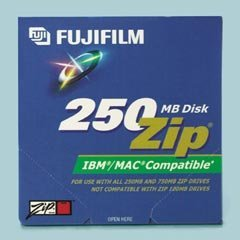 Fuji IBM/MAC® Kompatibel Zip® Festplatten, 250MB, 5pro Pack