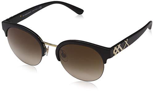 BURBERRY Damen 0Be4241 346413 52 Sonnenbrille, Schwarz (Black/Brown)
