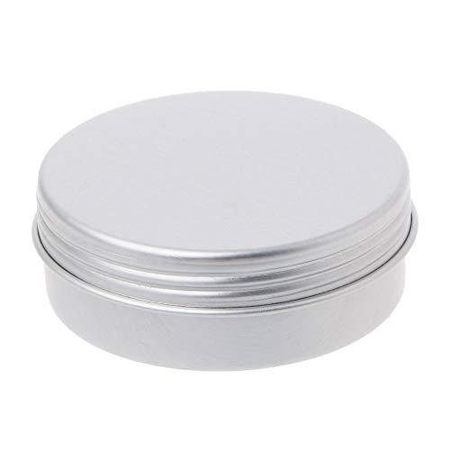 Xmptf 15/25ml en aluminium vide Cosmétique Pot X Boîte à nourriture Boîte ronde avec couvercle Craft, Silver, 25ml