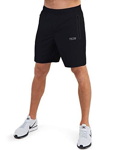 TCA Elite Tech Herren Trainingsshorts für Laufsport mit Reißverschlusstaschen - Anthrazit, S