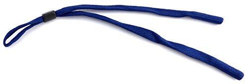 Brillen-Band Träger Band Brillen-Baender hochwertiges Brillenband Sport-Schnur Band extra breit mit Stopper - dunkel blau (Breite Sportschuhe Extra)