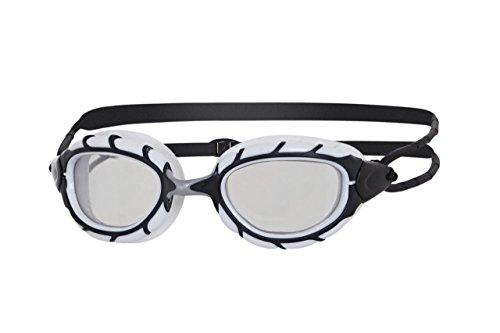 Zoggs Predator–Gafas de natación, todo el año, unisex, color negro y gris, tamaño talla única
