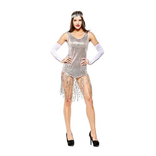 YaXuan Frauen Hosenträger, Halloween Kostüme, Latin Dance, Tanzkostüme, Weihnachten/Halloween / Karneval Festival/Urlaub (Farbe : 1, Größe : One Size)