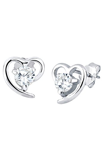 Elli Damen-Ohrringe Herzen 925 Silber