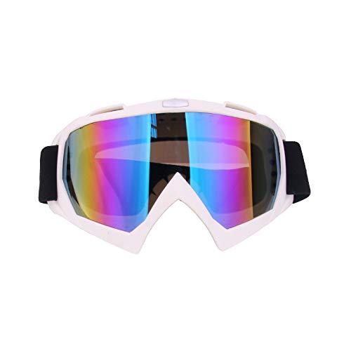 Yangjing-hl Mode Sonnenbrillen Offroad Helm Brille Reitbrille Skibrille weißen Rahmen Farbfilm