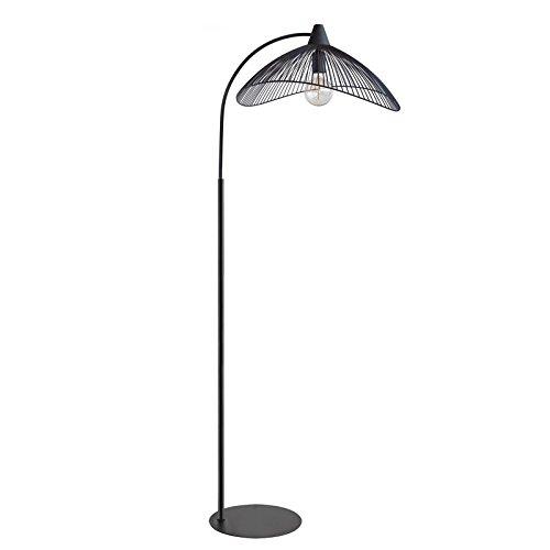 DLM Design Lampadaire métal Noir Filaire Droit KASTELI