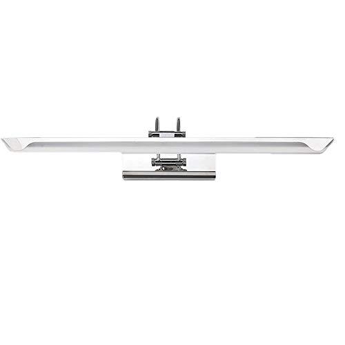 Laogg LED Lámpara de espejo Cuarto de baño espejo de acero inoxidable faro Espejo de baño de acrílico luz del gabinete Lámpara de pared del inodoro Longitud de luz: 59cm