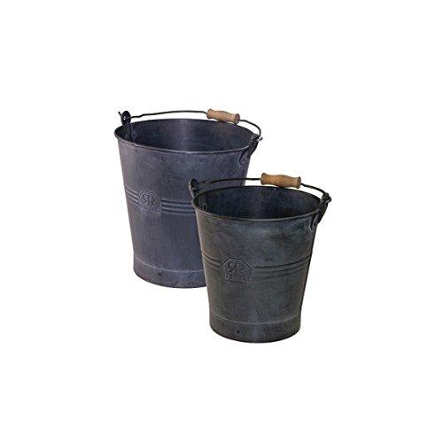 Bürstenhaus Redecker Eimer 2er-Set, schwarz - 5 l und 10 l