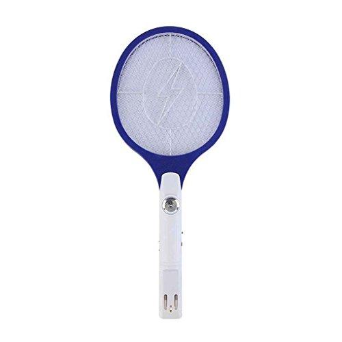 Focus Wiederaufladbare LED Elektrische Bug Pest Fly Moskito Killer Swatter Zapper Schläger Flapper Blau
