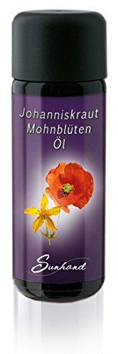 Johanniskrautöl-Mohnblütenöl Sunhand Sonnen-Arkana im Miron Violett-Glas 50ml