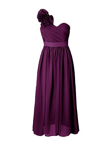 Dressystar Damen mit einem eleganten Blume Form Schulterträger festlich Abendkleid Ballkleider Grape