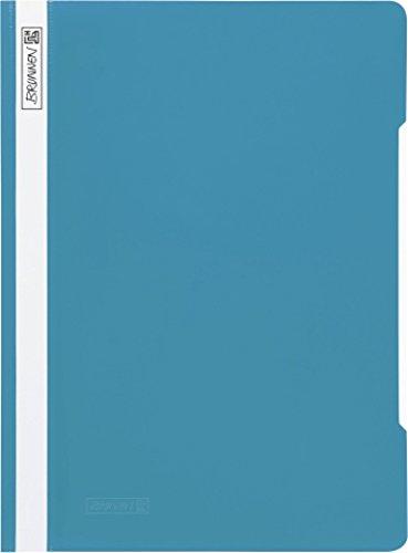 Brunnen 102011056 Schnellhefter (A4, aus PVC, glasklares Deckblatt) türkis