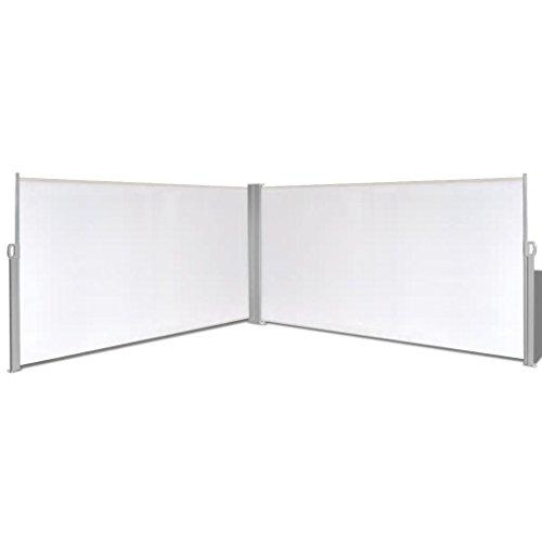 mewmewcat Toldo Lateral Retráctil Acero y Tela 160 x (0-600) cm Crema