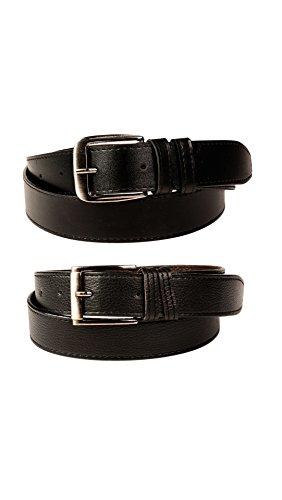 FEDRIGO Men's Faux Leather Belt DNA-FMB-1012-36_Black_36