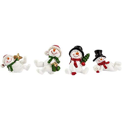 Deko-Figuren, Schneemänner, 3-4,5cm hoch, 4 Stück