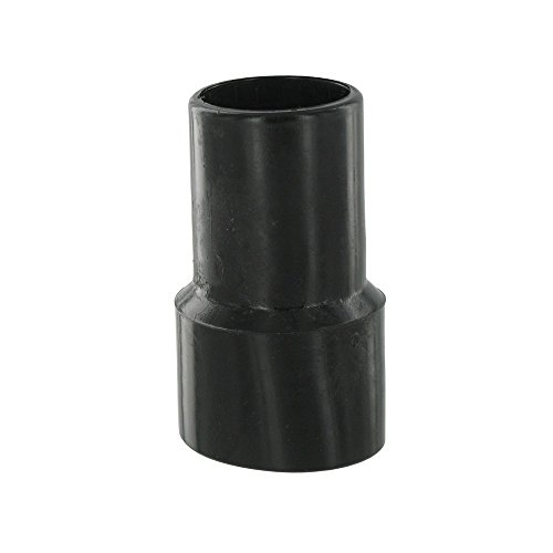 Europart, Raccordo in plastica con montaggio a vite per aspirapolvere, specifico per attacco bocchetta per fessure, 38 mm, colore: Nero