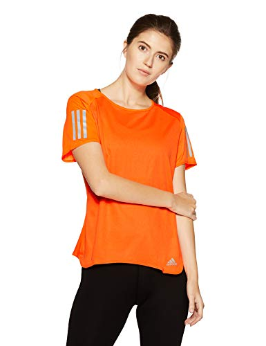 adidas Damen RS SS TEE W Kurzarm T-shirt, Orange (Hi-Res Orange), L