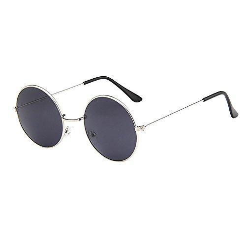 Battnot☀ Sonnenbrille für Damen Herren, Unisex Vintage Fahren Runde Rahmen Mode Anti-UV Gläser Sonnenbrillen Schutzbrillen Männer Frauen Retro Billig Sunglasses Women Eyewear Eyeglasses