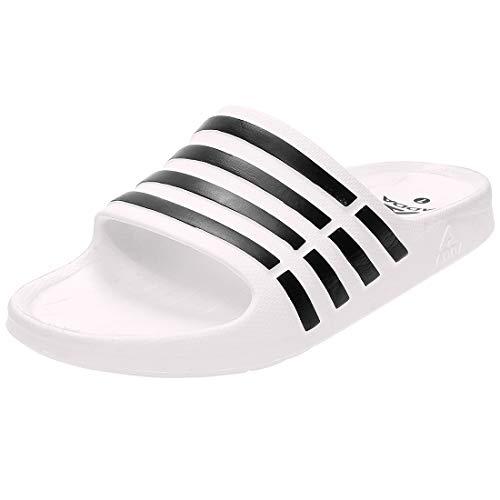 Adda Men's White Synthetic Slides - 8 UK/India