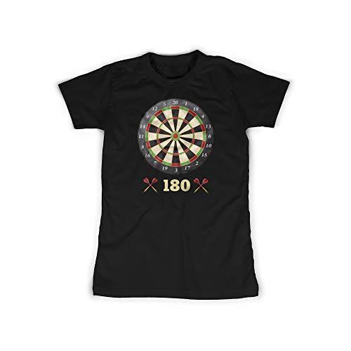 licaso Frauen T-Shirt mit Dartscheibe 180 Aufdruck in Black Gr. XXXXL Motiv Design Top Shirt Frauen Basic 100{1fa943f5311bc3fdc768eeacf1c5cbf08158b81cb1eb15d37f9ed753ecaa3a8f} Baumwolle Kurzarm
